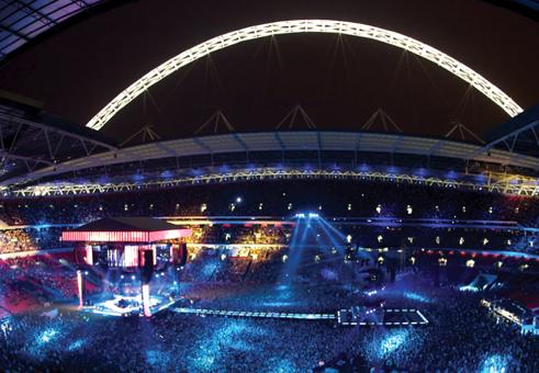 Wembley Stadium in gig mode
